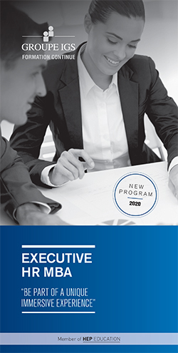 Plaquette Executive HR MBA 2020